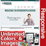 Minerva Teal Blue - Unlimited Colors, Images, Layouts - 5 Free Modules - Responsive Skin Mobile